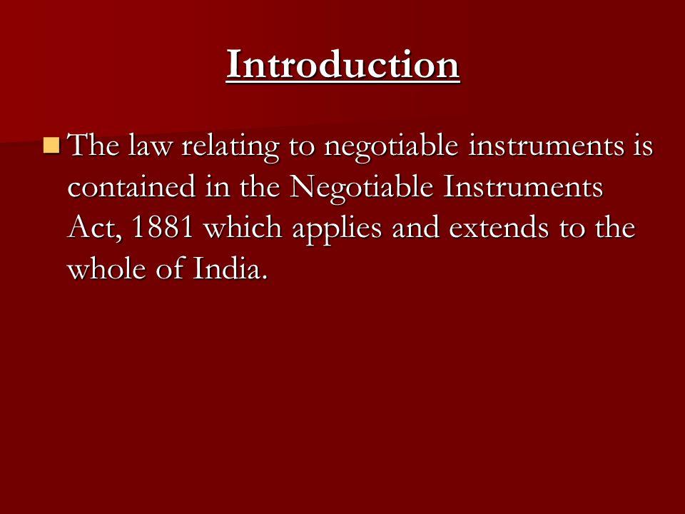 1881 negotiable instruments pdf act