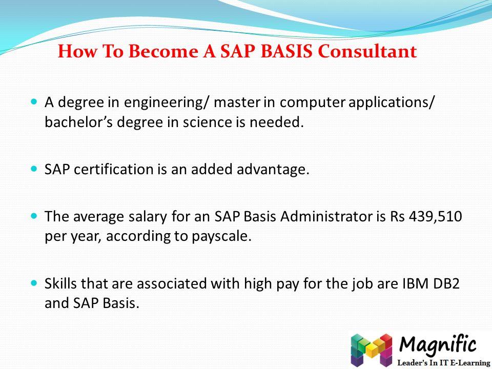 Career Oriented Sap Basis Training In Indiaukusa Online