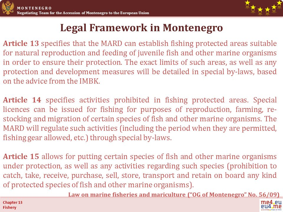 Management Of Resources M O N T E N E G R O Negotiating Team For The Accession Of Montenegro To The European Union Working Group For Chapter 13 Fishery Ppt Download