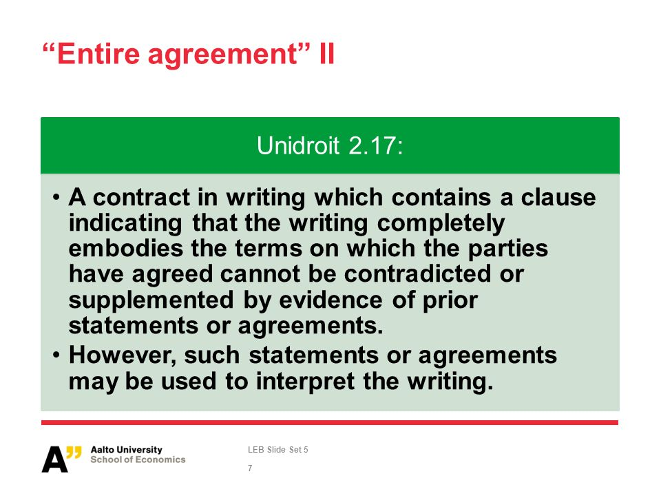 Leb Slide Set 5 International And British Contract Law Entire