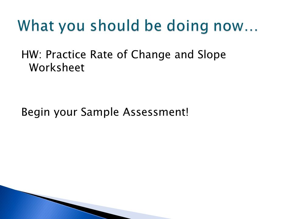 Rate Of Change And Slope If You Didn't Already Turn It In Show Me. 17 Hw Practice Rate Of Change And Slope Worksheet Begin Your Sle Assessment. Worksheet. Slope As Rate Of Change Worksheet At Mspartners.co