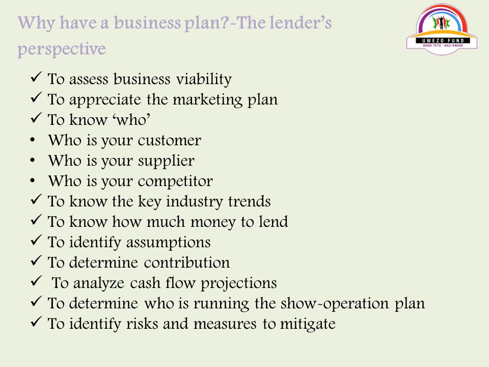 uwezo fund business plan form
