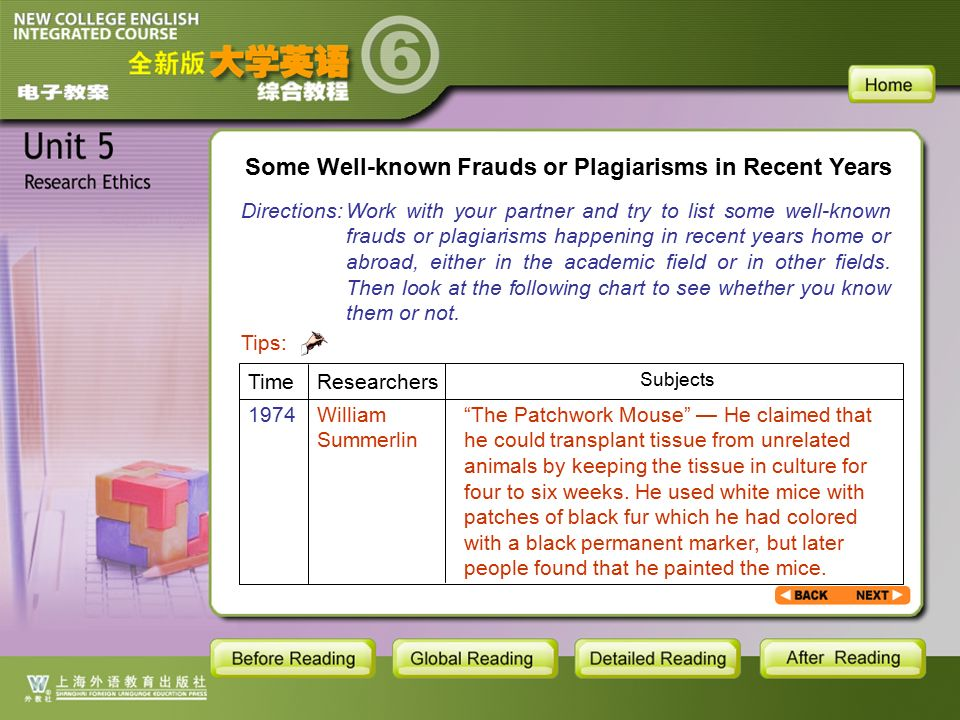 BR1- Some Well-known Frauds or Plagiarisms in Recent Years1 Some Well-known Frauds or Plagiarisms in Recent Years Directions: Work with your partner and try to list some well-known frauds or plagiarisms happening in recent years home or abroad, either in the academic field or in other fields.