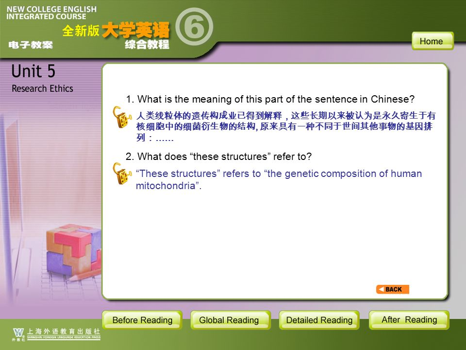 TEXT-S9-11 1. What is the meaning of this part of the sentence in Chinese.
