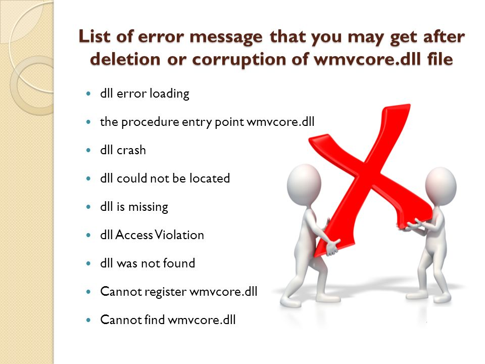 How to Fix Missing WMVCore dll Error in Windows ppt download