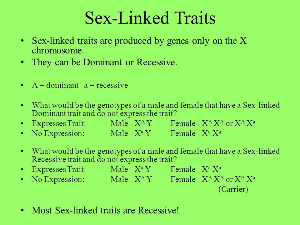 Sex traits