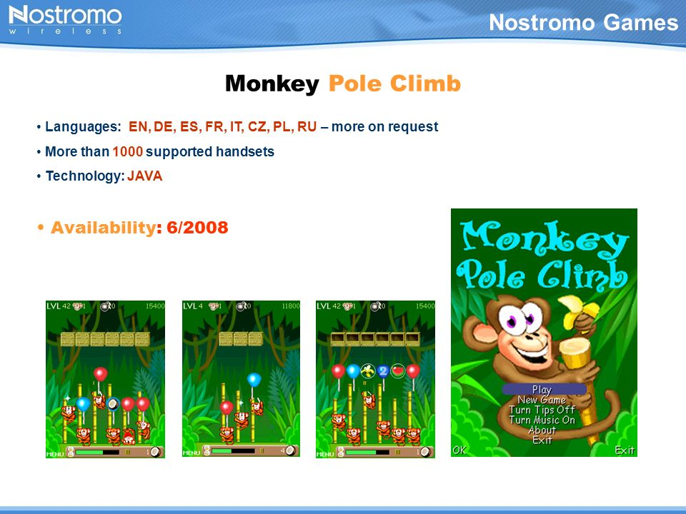 Nostromo Games Monkey Pole Climb A totally unique style of