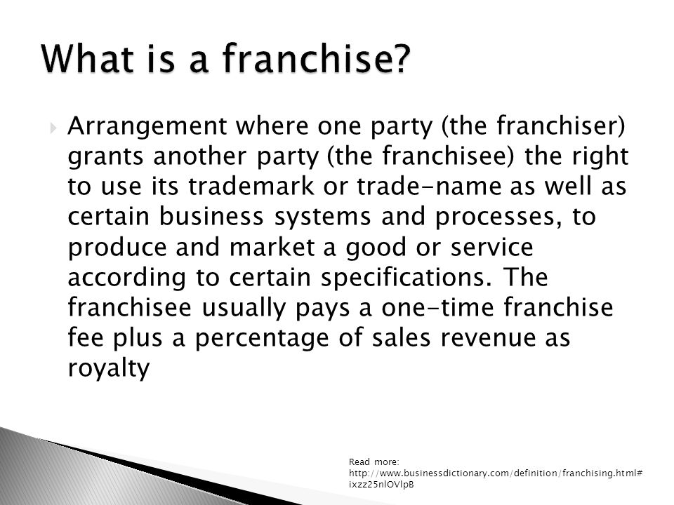 FRANCHISING DEFINITION EPUB DOWNLOAD