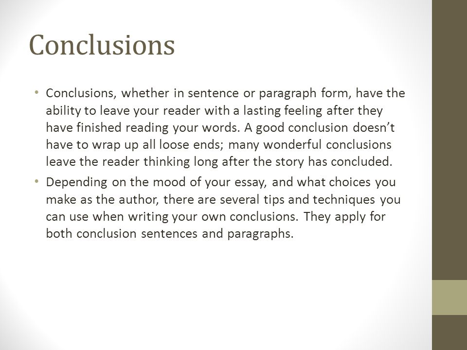 thesis conclusion example
