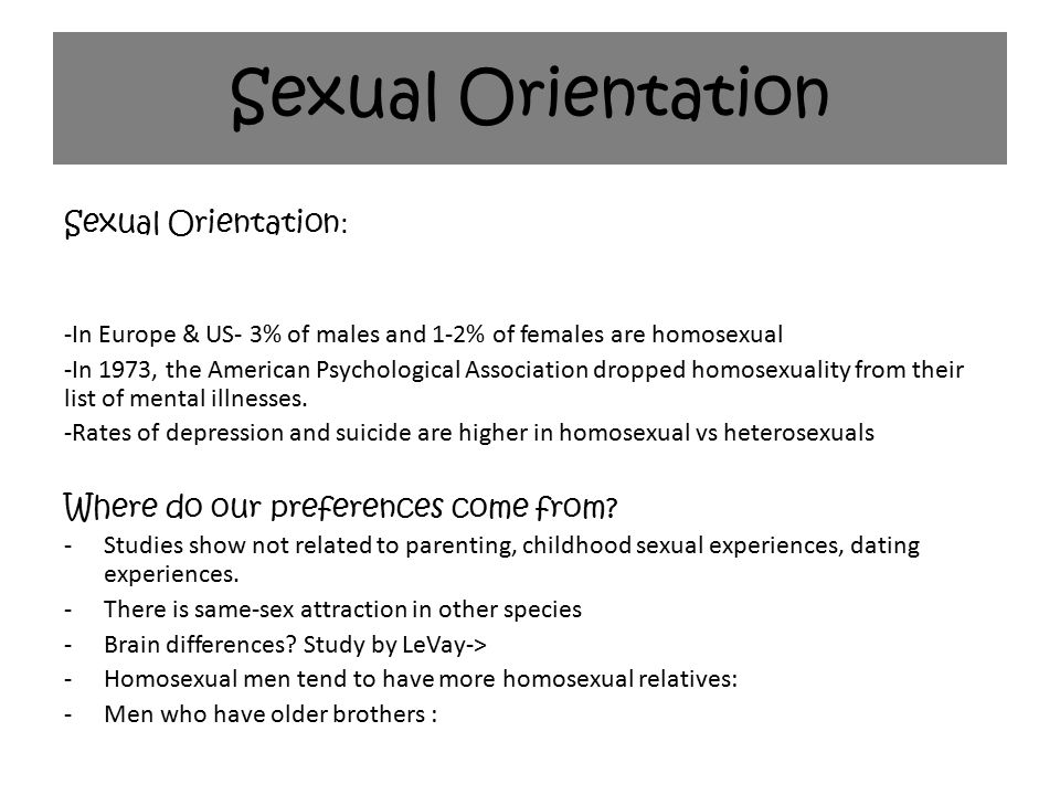 Homosexual definition in psychology