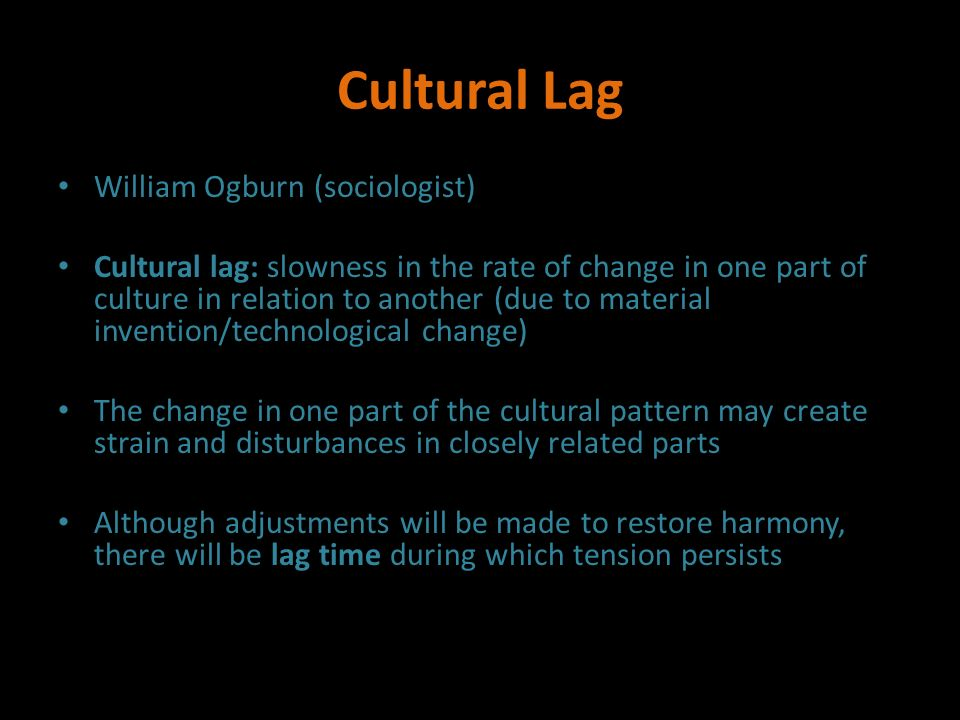 what is cultural lag in sociology