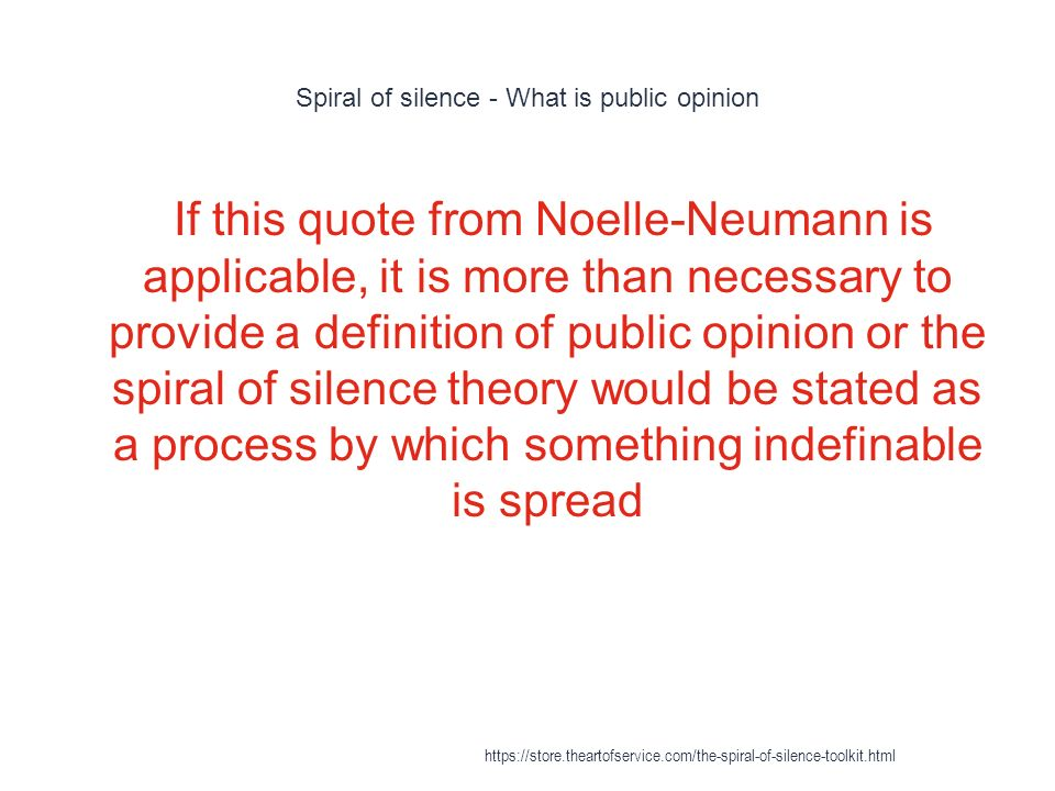 spiral of silence ppt download