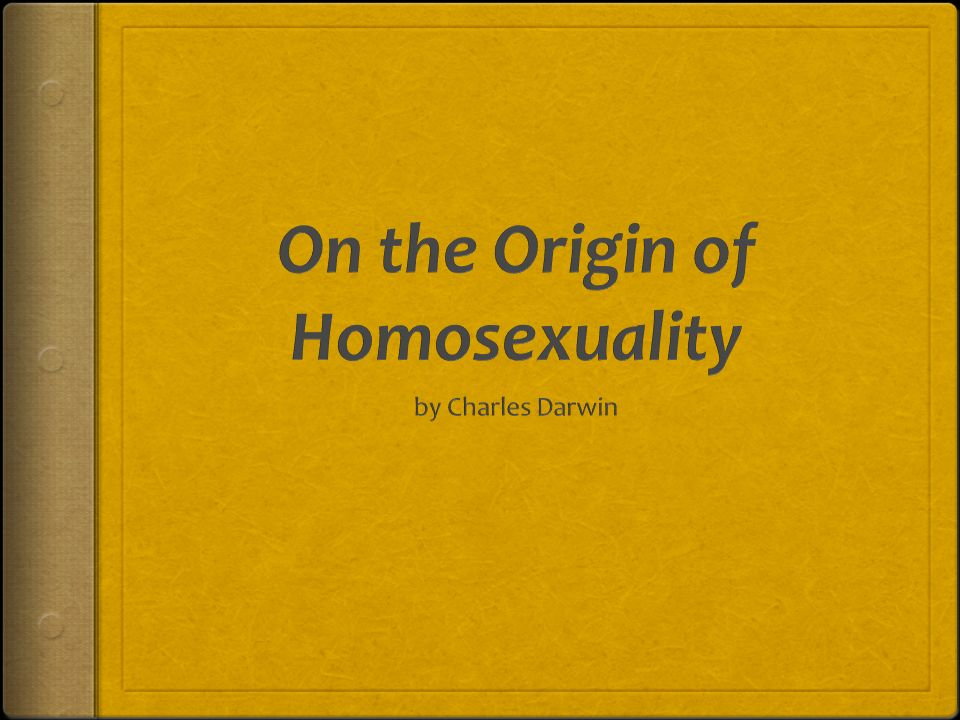 Darwin opinion on homosexuality