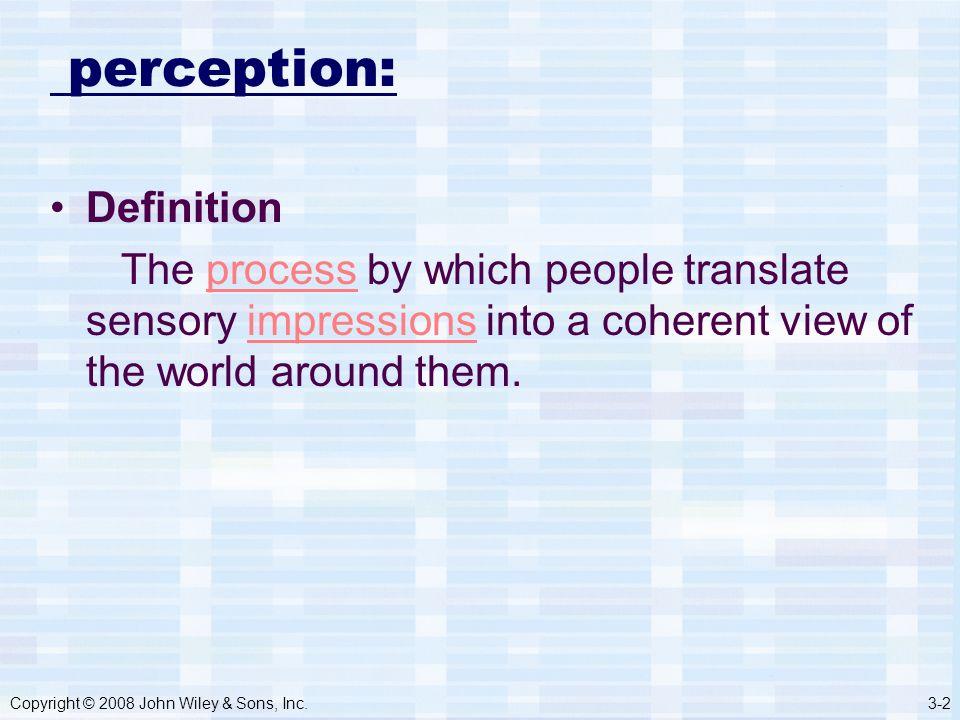 sensory perception definition