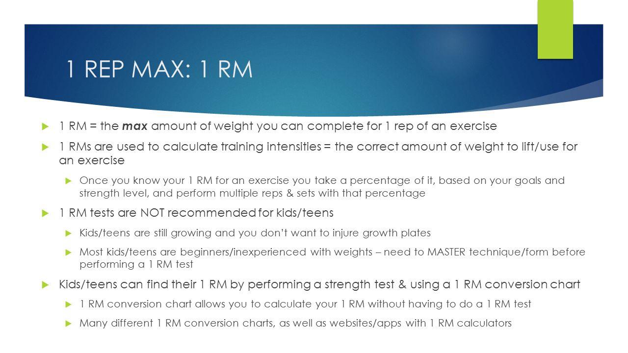 1 rep max