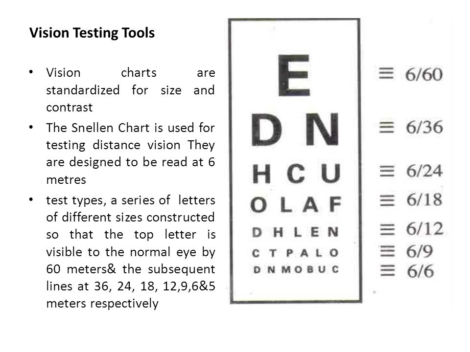Visual Acuity And Color Vision Aims And Objectives Understand The