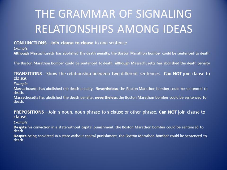 between ideas definition