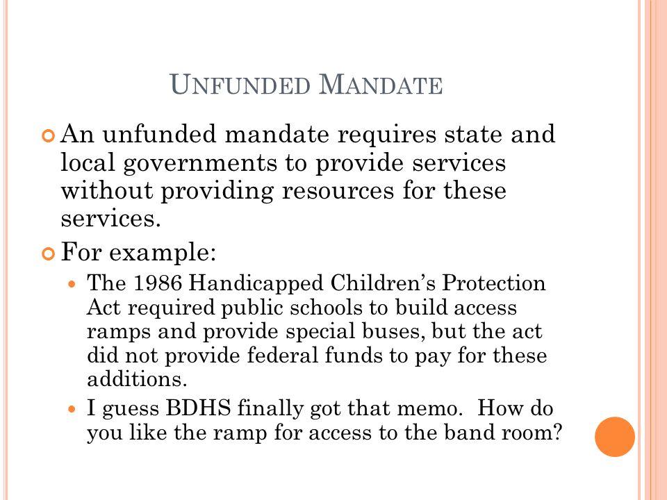 mandate examples
