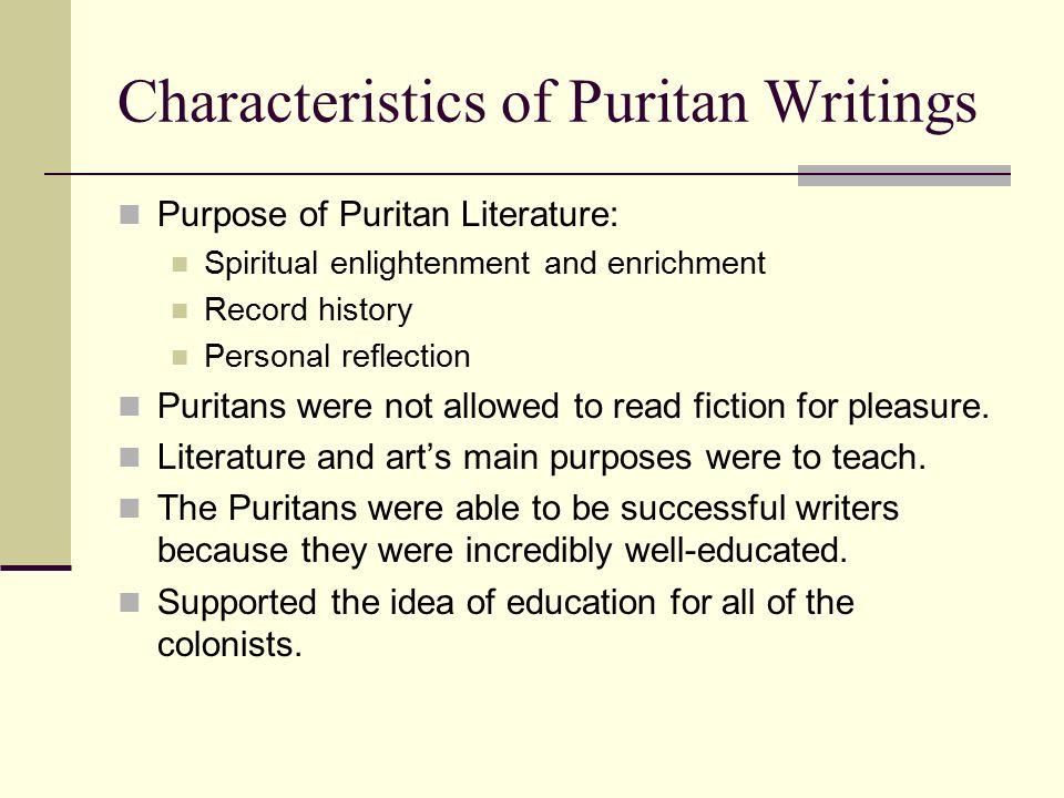 characteristics of puritanism