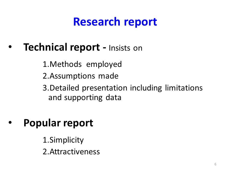 types of research report pdf