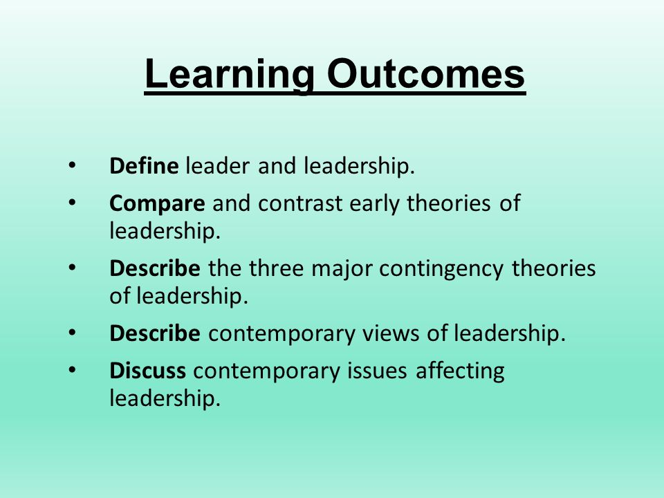 discuss the concept of leadership
