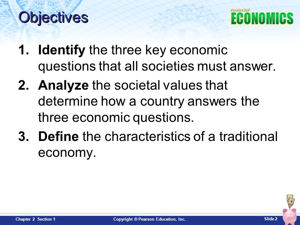 Chapter 2 Economic Systems Section 1 Slide 2 Copyright