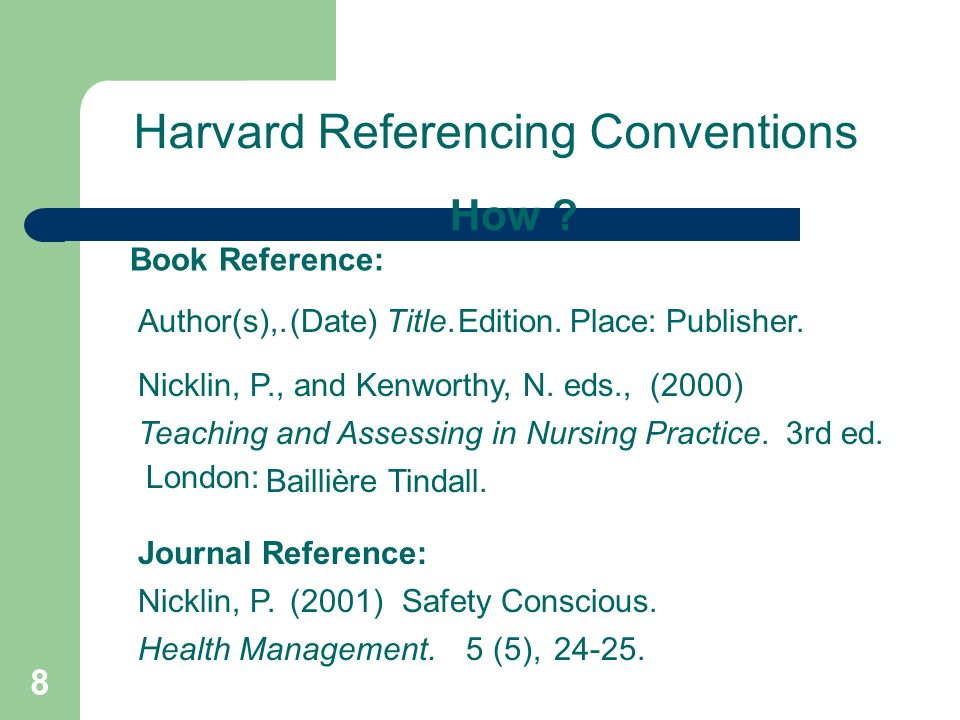 1 harvard referencing 2 demonstrate use of the harvard system of 8 harvard referencing conventions how ccuart Image collections