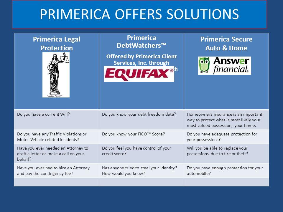 primerica legal protection program BUSINESS EXPANSION PRESENTATION. PRIMERICA Started in 1977 Listed on ...