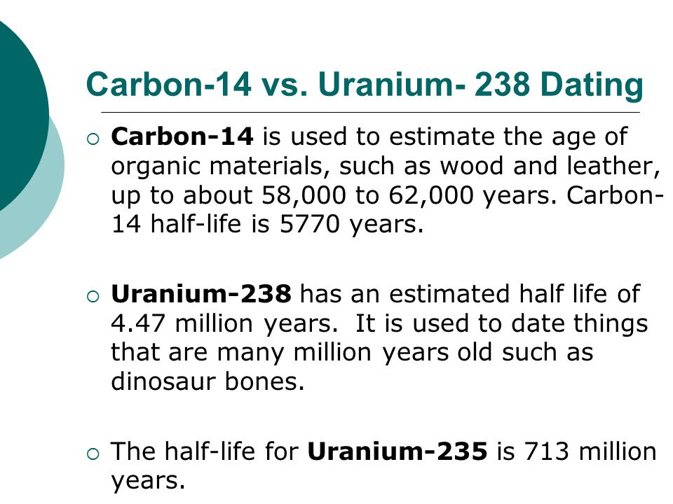Dinosaur bones carbon dating