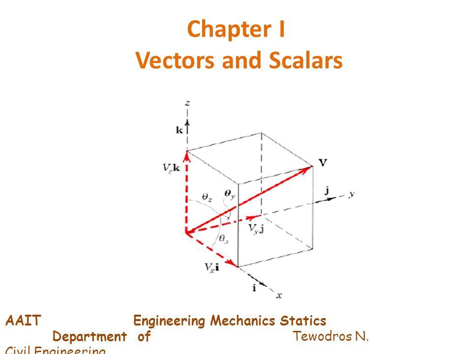 Chapter I Vectors and Scalars AAIT Engineering Mechanics