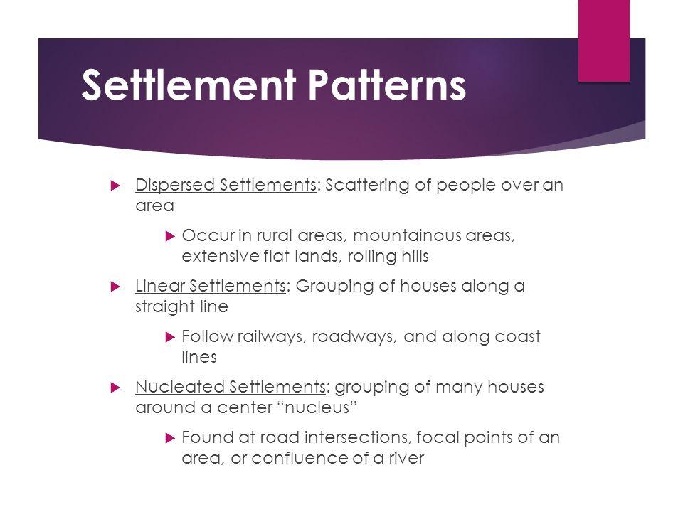 linear settlements in canada