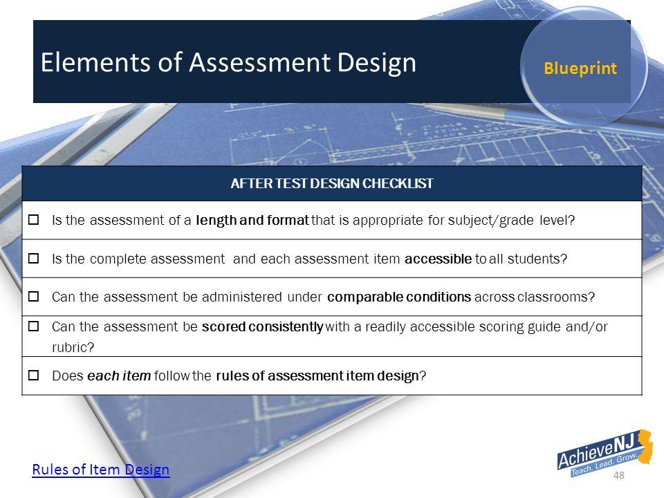 Elements Ofessment Design Blueprint 48 Elements