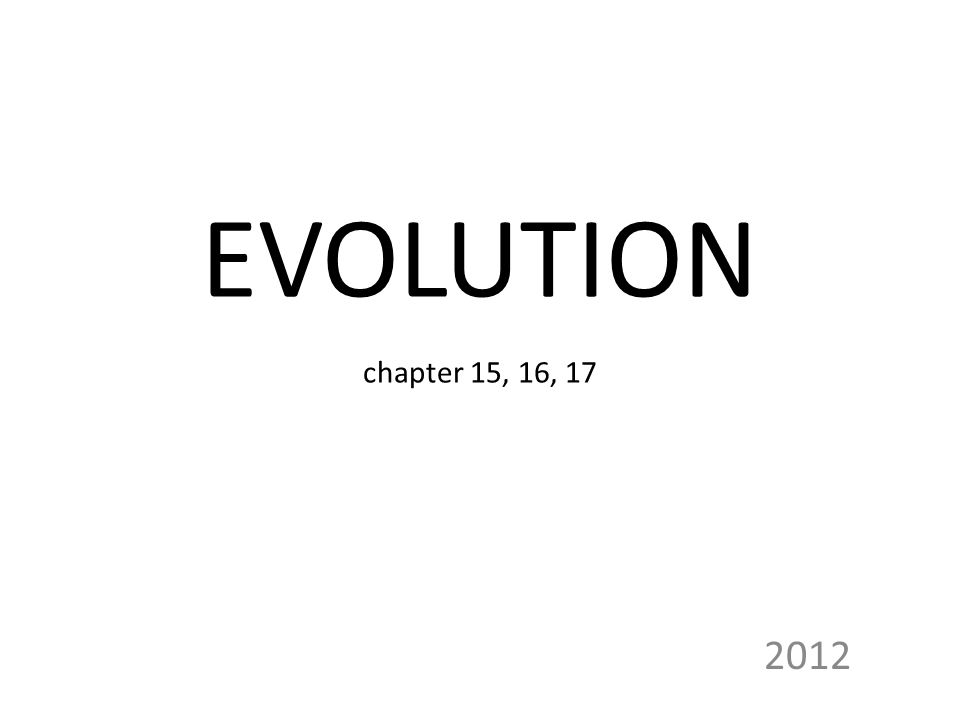 EVOLUTION chapter 15, 16,