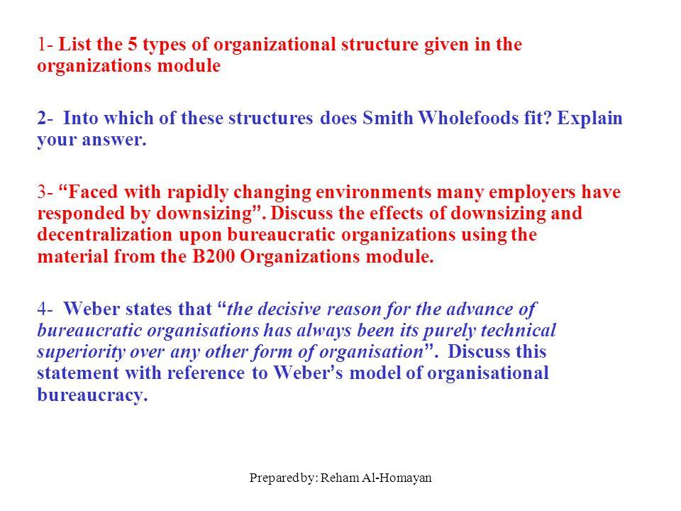 weber organizational structure