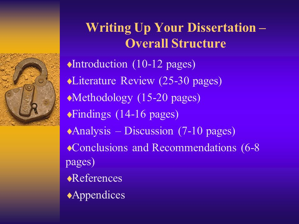 literature review dissertation structure