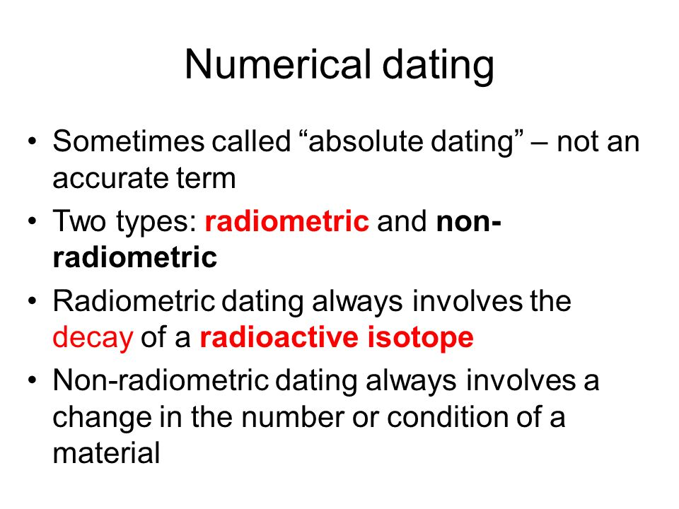 Numerical dating in geology