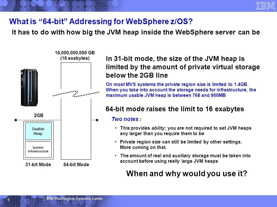 IBM Washington Systems Center 64-bit Addressing Support