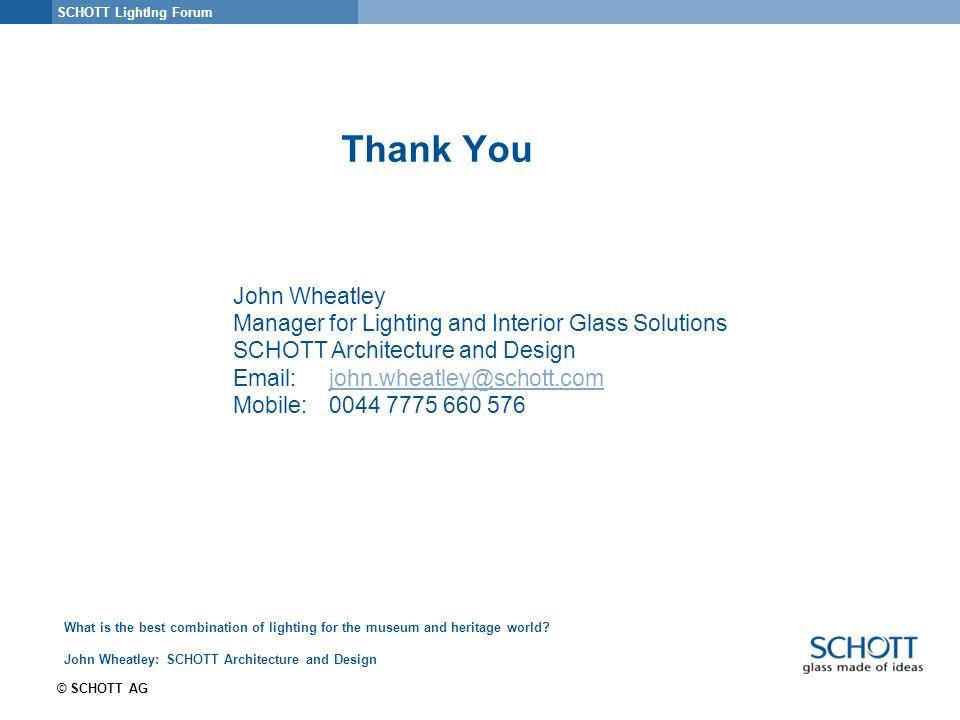 19 SCHOTT ...  sc 1 st  SlidePlayer & SCHOTT Lighting Forum © SCHOTT AG What is the best combination of ...