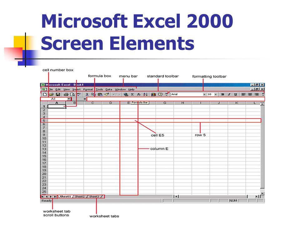microsoft excel 2000