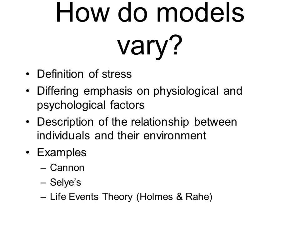 Health Psychology Stress What Is Stress What Are Stressors