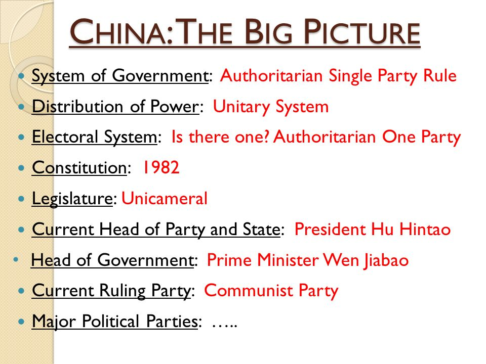 single party rule by communist parties