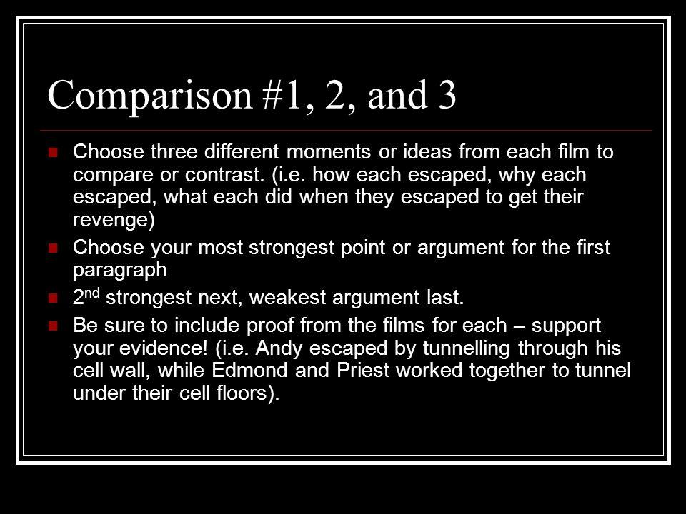 Count Of Monte Cristo Versus Shawshank Redemption Ecm  Comparison   Comparison