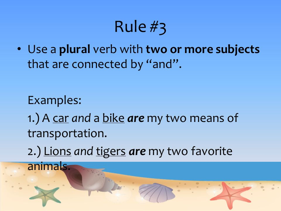 Subject Verb Agreement Language Arts Subject Verb Agreement The