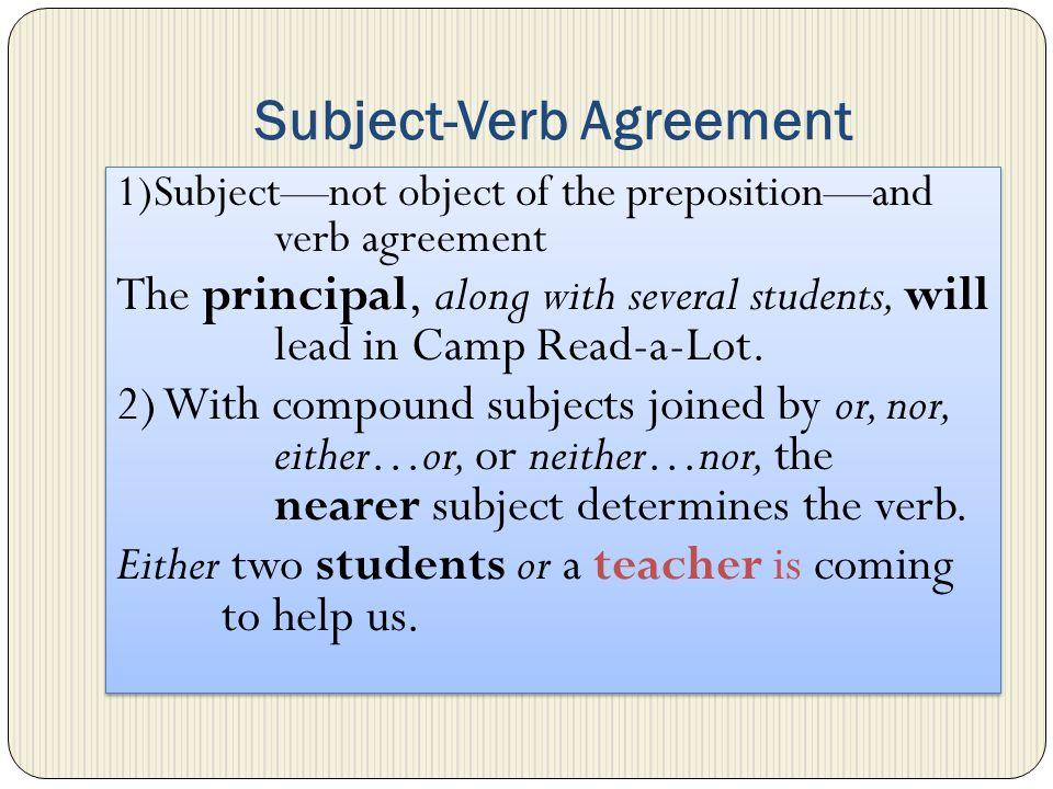 Review Subject Verb Agreement Pronoun Antecedent Agreement Pronoun