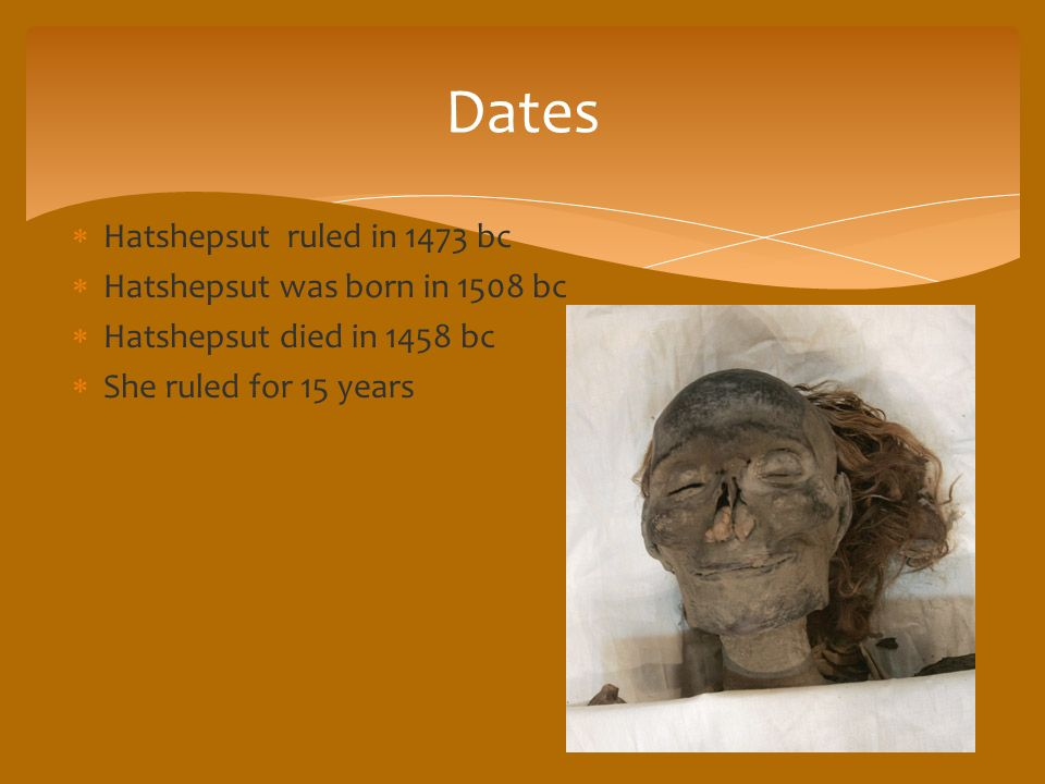 When was hatshepsut born and died