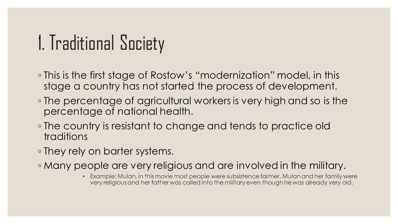 traditional society example