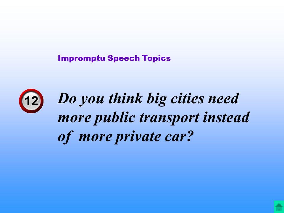 car speech topics