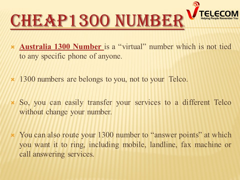13, 1300, 1800 AUSTRALIAN NUMBERS Business phone Numbers By