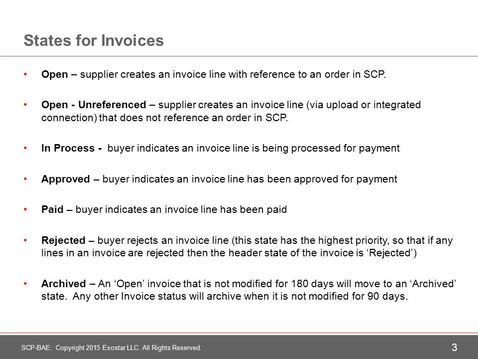 Invoices Training Presentation For Supply Chain Platform BAE - Openinvoice supplier link
