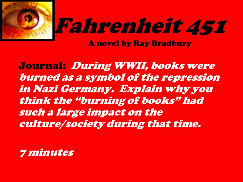 Fahrenheit 451 A Novel By Ray Bradbury Journal During Wwii Books